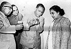 Dr. Shushila Nayyar, Minister of health with Prof. B.N.B. Rao