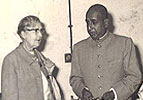 Mrs. Rajwade With Dr. B.N.B. Rao